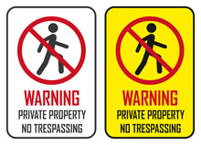 Warning Private Property No Tr...