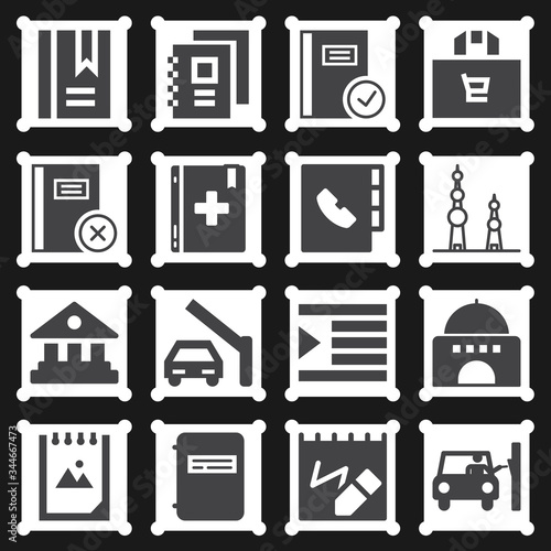 16 pack of acre  filled web icons set Wallpaper Mural