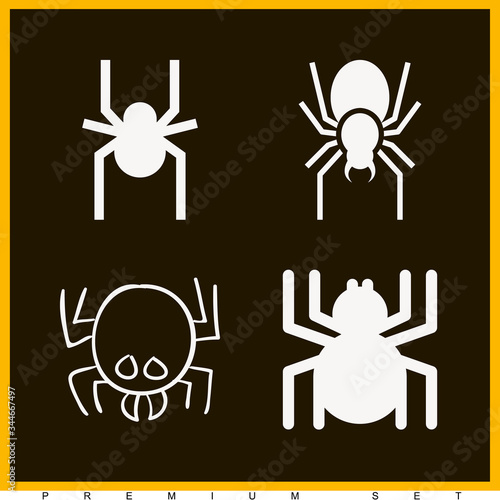 Set of 4 arachnids filled icons Canvas Print