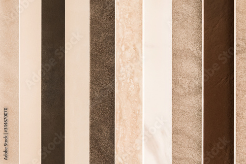 Fotografering Samples of different decorative abstract colored ceramic tiles texture backgroun