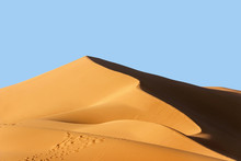 Landscape Of Golden Sand Dune ...