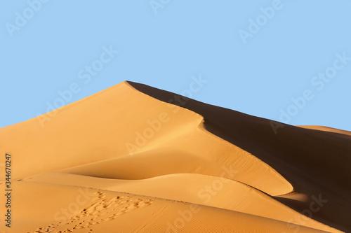 landscape of golden sand dune in sahara desert Tapéta, Fotótapéta
