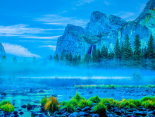 Bridal Veil Falls In Yosemite ...
