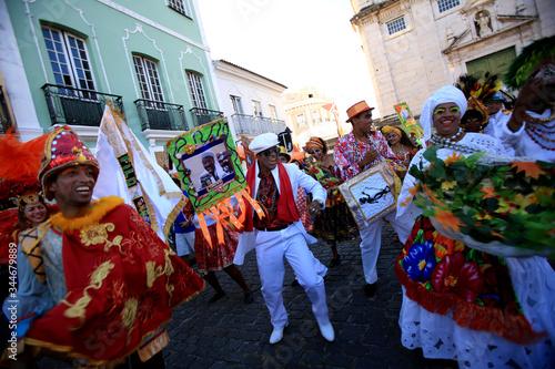 Fotografie, Obraz cultural group at the carnival of salvador