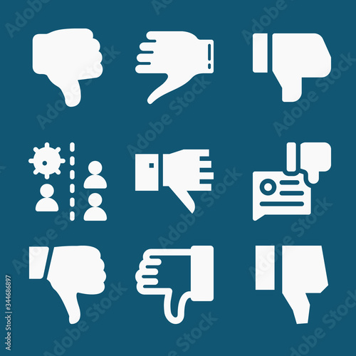 Photo Set of 9 alienation filled icons