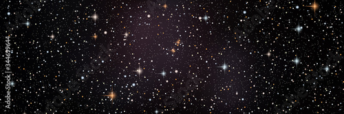Canvastavla Night sky vector background with star cluster, nebula and galaxies