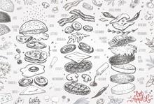Burger Menu. Vintage Template ...