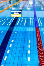 Empty Olympic Swimming Pool