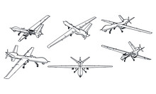 Drone Outline Vector. Military...