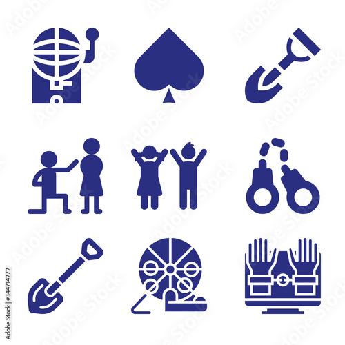 Fotomural Set of 9 jake filled icons