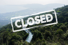 Concept City Closed For Quarantine Due To Coronavirus, COVID-19. Glass Bridge In Yalong Bay Tropical Paradise Forest Park. South China's Hainan Province