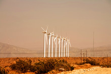 Wind Turbines At Palm Springs.