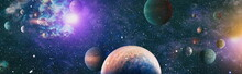 Space Background With Nebulas ...