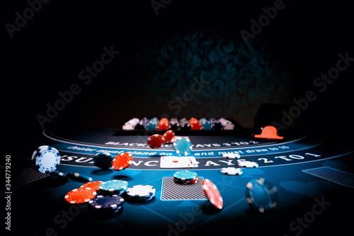 Fotografía Casino Black Jack table