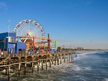 Ferris Wheel At Santa Monica P...