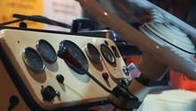Close-up Of Retro Car Dashboar...