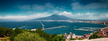 Overview Of The Gulf Of Naples With Vesuvius Seen From Castellammare Di Stabia