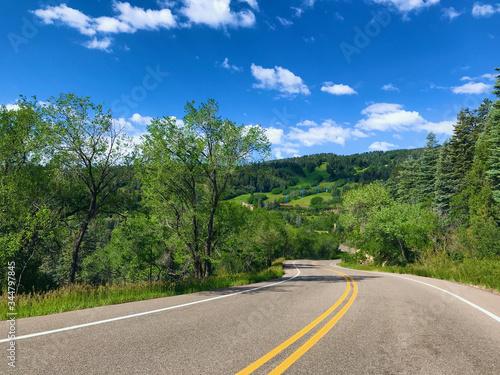 The Sandia Crest Highway near Albuquerque Canvas Print