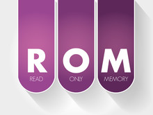 ROM - Read Only Memory Acronym...