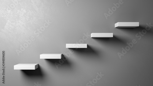 Fotografia Stairs Steps Against the Wall