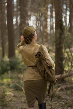 Girl In Uniform In The Forest ...