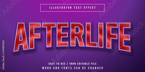 Afterlife Editable Text Effect Font Styles Canvas Print