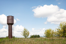 An Old Abandoned Water Tower S...