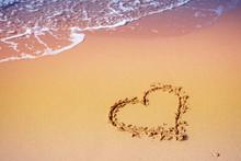 Sea Coast. Inscription Heart O...