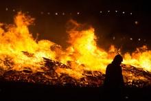 Fireman Silhouette Near A Inte...