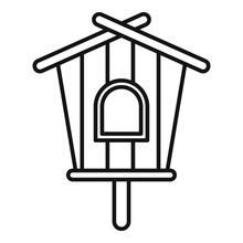 Modern Bird House Icon. Outline Modern Bird House Vector Icon For Web Design Isolated On White Background