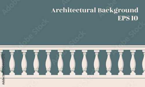 Architectural background with balustrade Wallpaper Mural