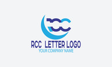 Abstract Logo Design RCC LETTER