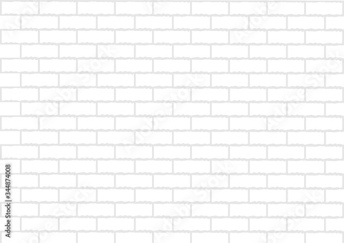Photo White brick wall is texture vector for use wallpaper