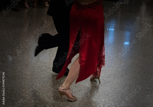 Obraz na plátně Detail of tango shoes