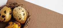 Small Yellow Quail Eggs On A C...