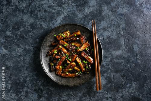 Stir-fry Bulgogi Eggplant Canvas Print