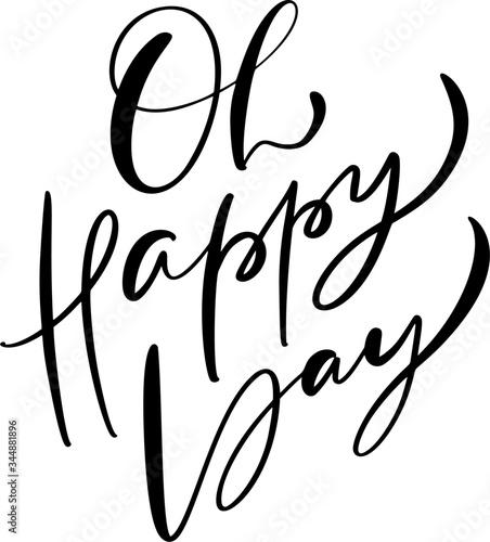Canvastavla Oh happy day