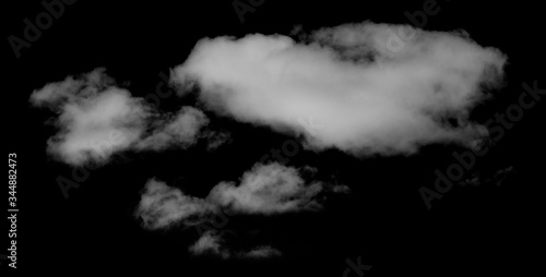 Clouds On black background Wallpaper Mural