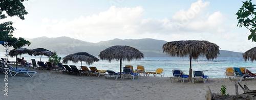 Las Galeras Tropical Beach in the Samana Province of Dominican Republic, Caribbean Islands.