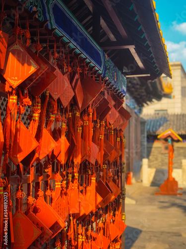 China amulets in Confucio temple Tianjin Canvas Print