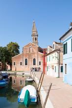 Burano Island, Venice, Veneto,...