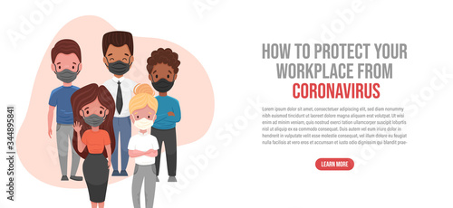 Photo Protect your workplace from coronavirus landing page
