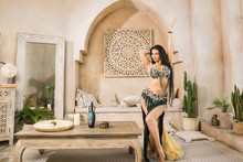 Beautiful Belly Dancer In Motion..