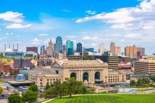 Kansas City, Missouri, USA Skyline With Union Station