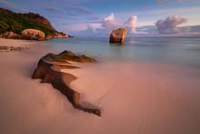 Granite Rocks On Tropical Beac...