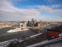 Skyline Of Pittsburgh, Pennsylvania In Winter