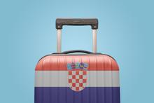 Baggage With Croatia Flag Prin...