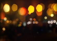Blurred Light At Rainy Season ...