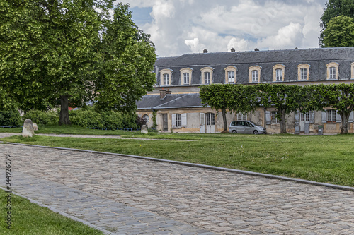 Former stables of the old castle of Meudon, large stables that could accommodate up to 280 horses Canvas Print