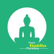Happy Buddha Purnima Banner, H...